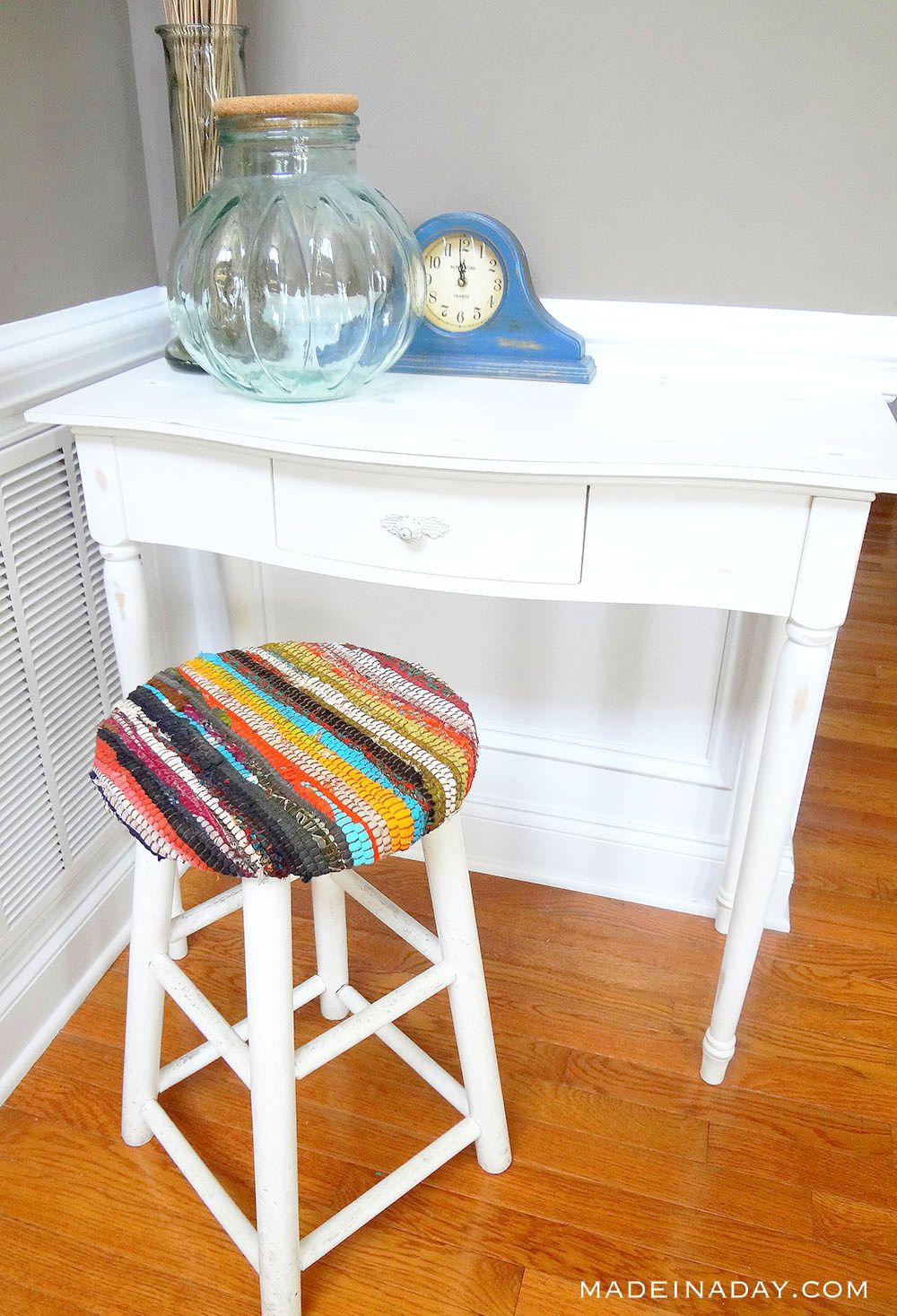 Recycled Fabric Rug Stool Upholstery Fabric For Chairs Redo Furniture Recycled Rugs