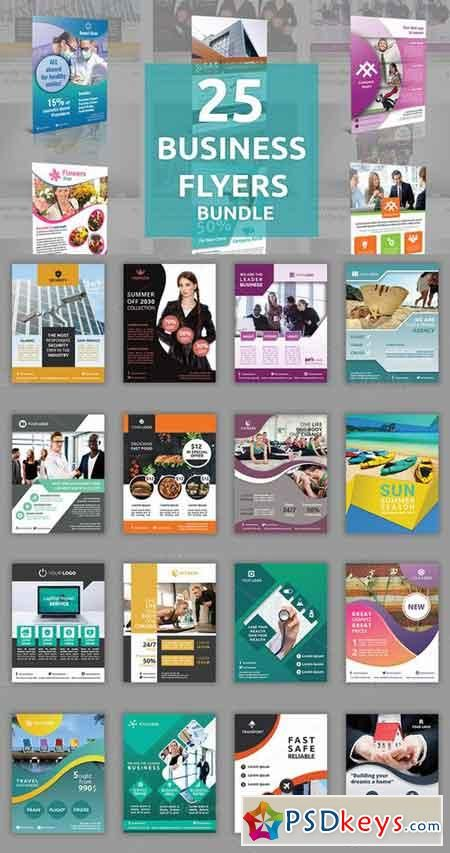 25 Business Flyers Bundle 768446 ads Pinterest Business flyers - cleaning brochure template