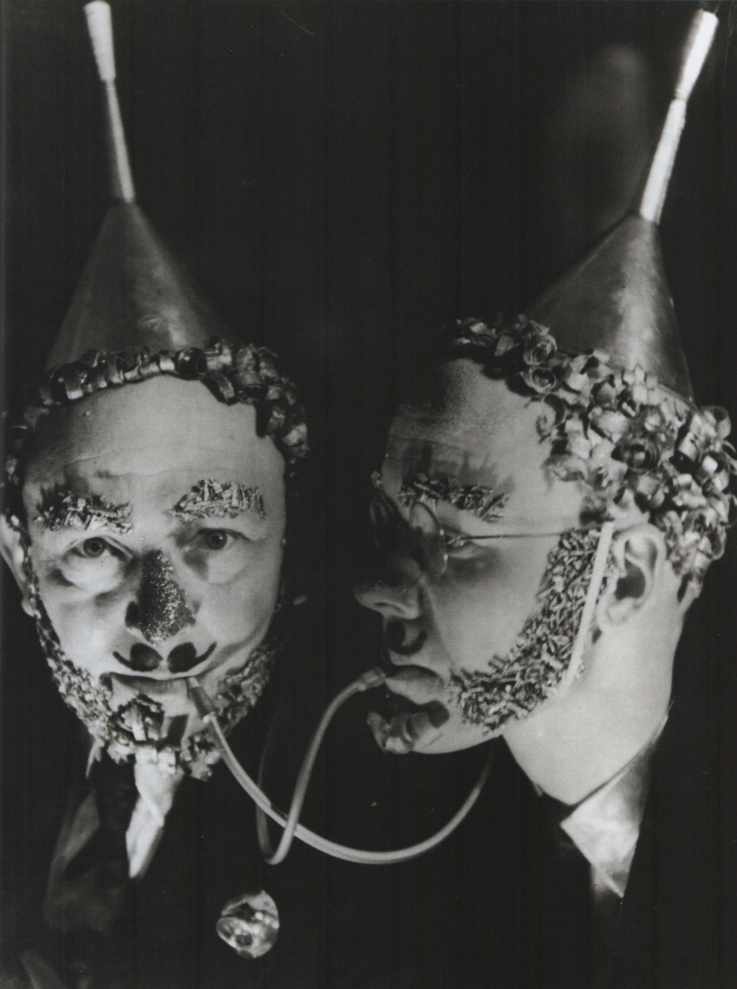 Party goers Casca Sclhemmer and Georg Hartmann at the Bauhaus Metal ...