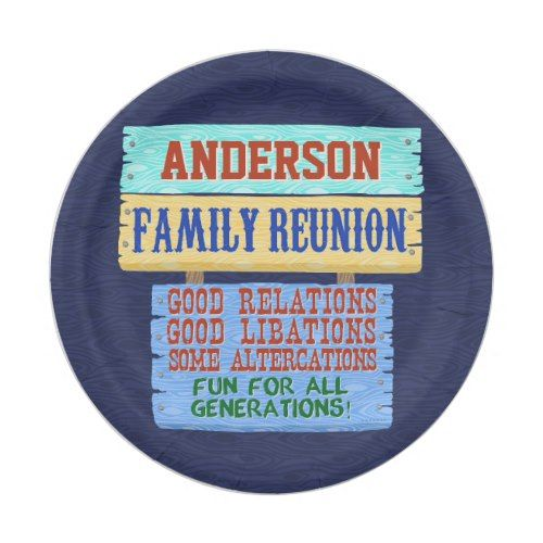 Family Reunion Party Funny Wooden Sign   Add Name Paper Plate  sc 1 st  Pinterest & Family Reunion Party Funny Wooden Sign   Add Name Paper Plate ...