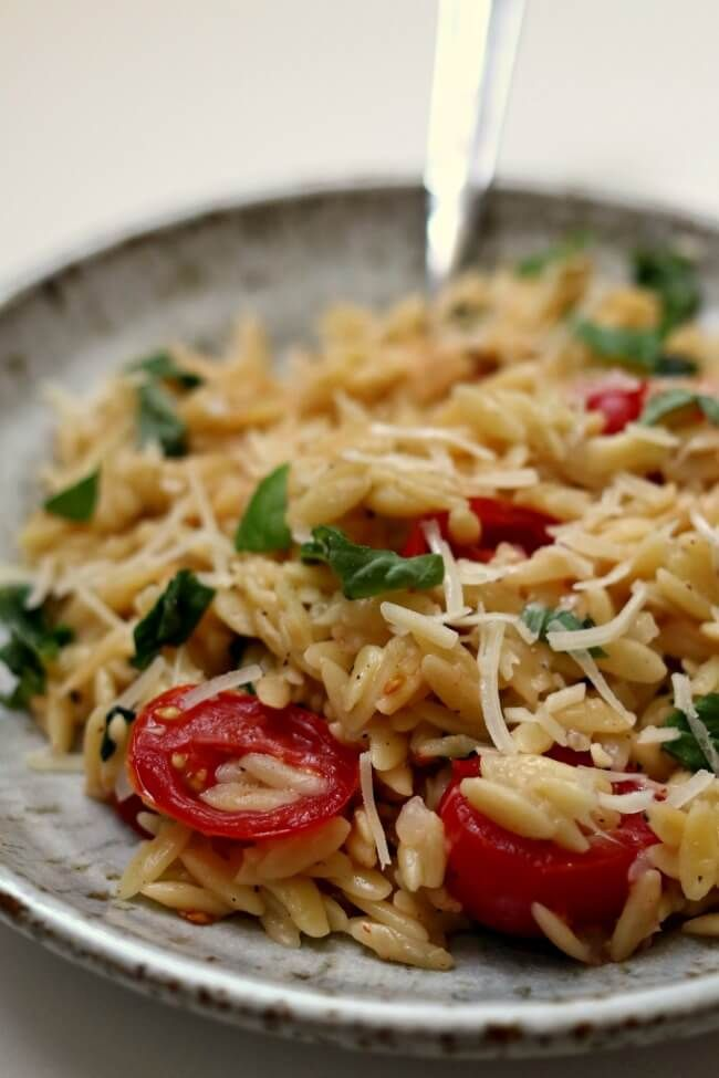 instant pot tomato basil parmesan orzo  recipe  food