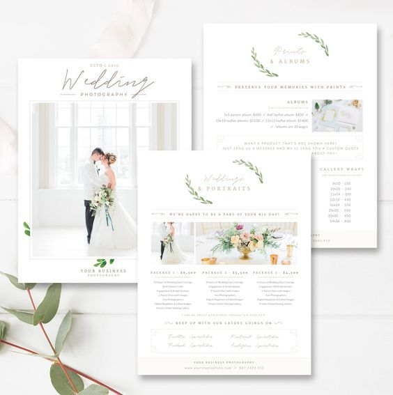 Pricing Guide Template For Wedding Photographers Digital Printed Produc Photography Pricing Photography Pricing Template Wedding Photography Pricing Templates