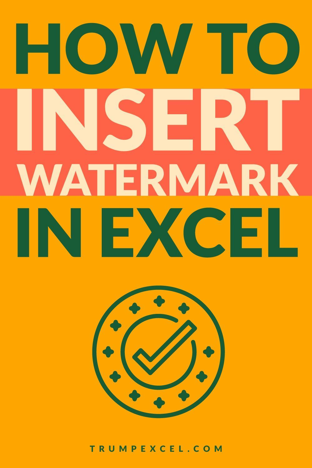 How to Insert a Watermark in Excel (a Step-by-step
