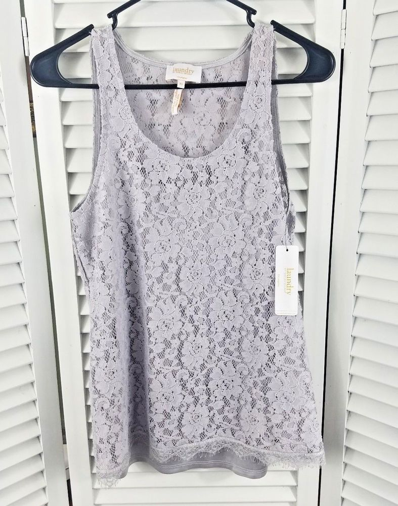 Women S Laundry By Shelli Segal Top Size Xs 2 Pc Chrome Floral Lace Tank Fashion Clothing Shoes Accessories Womensclothing Tops Ebay Tops Fashion Women