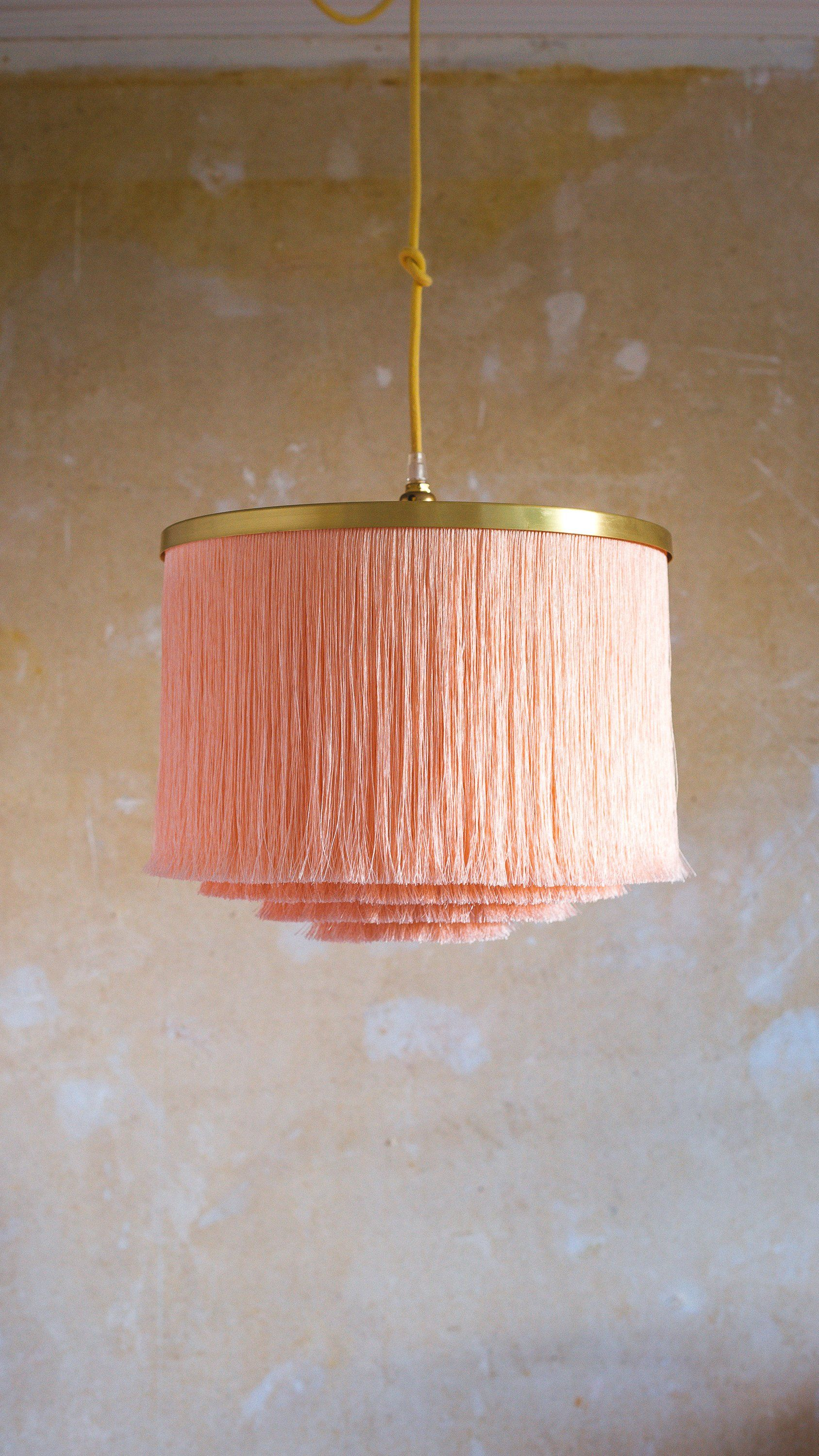 Fringe Light P I L L O W T A L K Lampshade In Softest Etsy