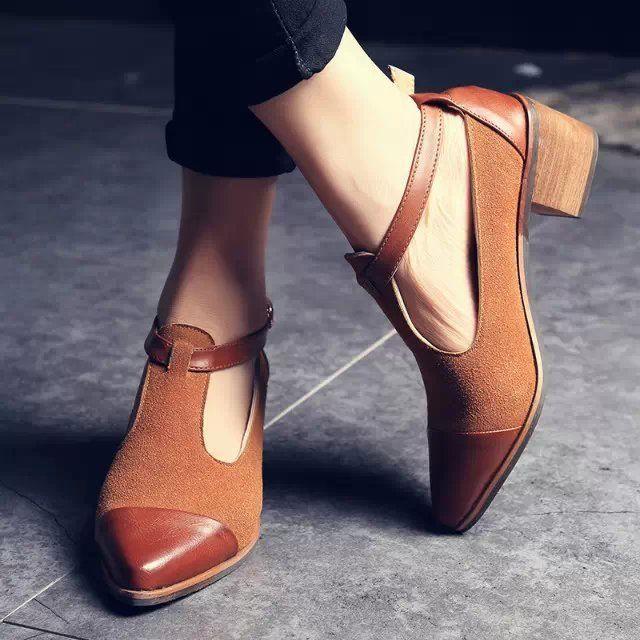 New 2015 Genuine Leather Black Brown Platform Flats women Ballet Flats  Women Shoes T-strap