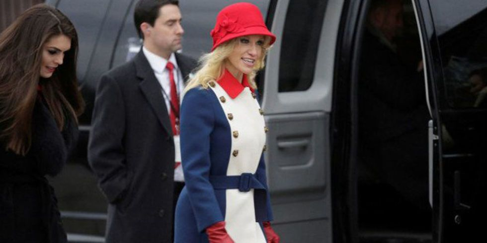 Kellyanne Conway Wears Gucci to Inauguration - Kellyanne Conway Inauguration Outfit