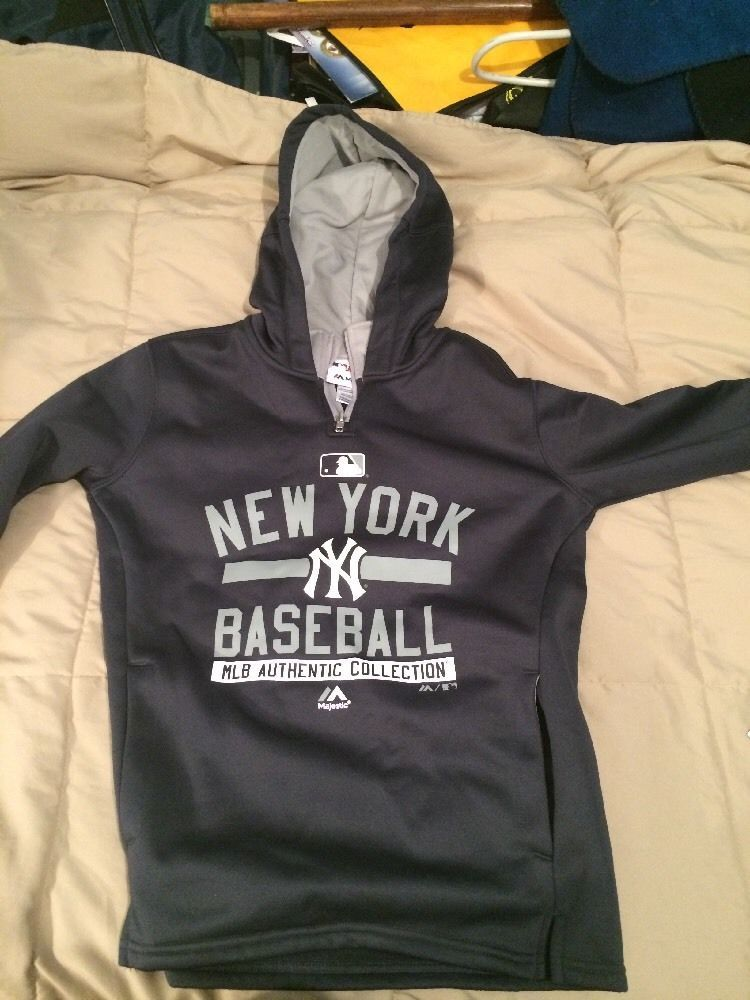 New York  Yankees  MLB Authentic Collection Hoodie Youth Medium from  40.0 eb98fb29aa9