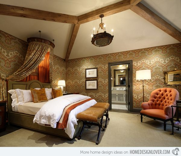 15 extravagantly beautiful tuscan style bedrooms tuscan for Tuscany bedroom designs