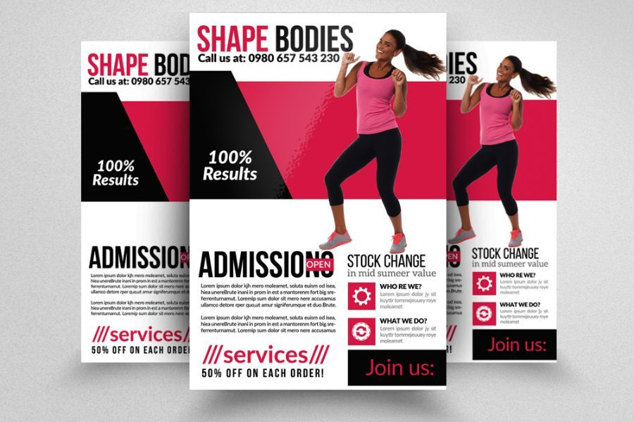 20+ Fitness Flyer Template PSD for Fitness Center, Gym and