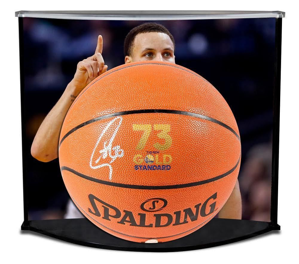 STEPHEN CURRY Autographed Record Logo Spalding Basketball