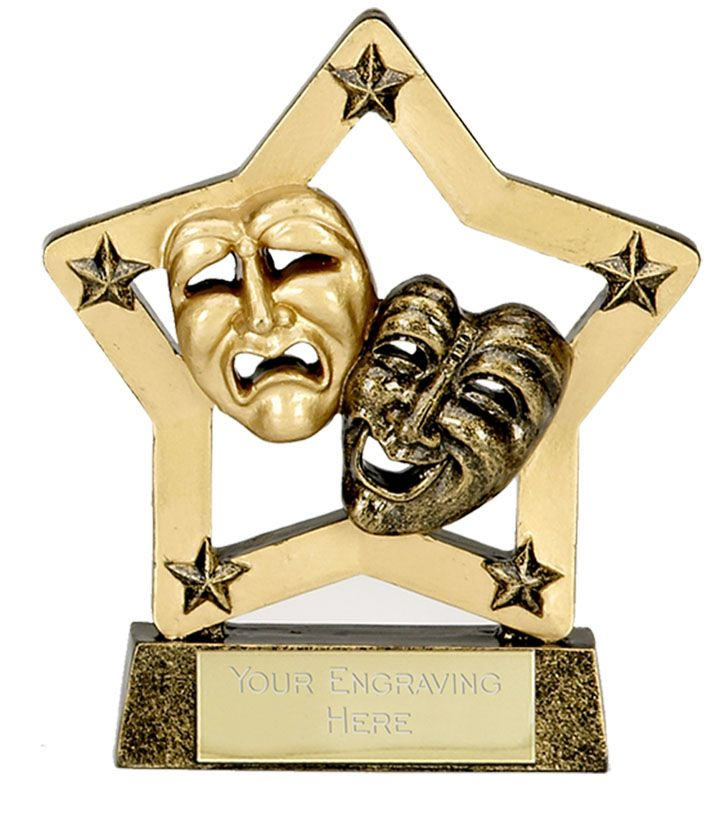 acting trophy | A1240 Shieldstar Drama Dance Trophies ...