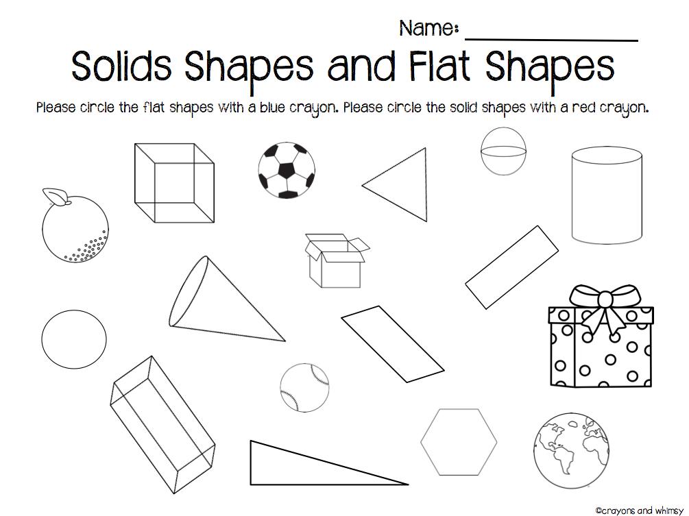 solid shapes worksheets bagruinfo – Solid Shapes Worksheets