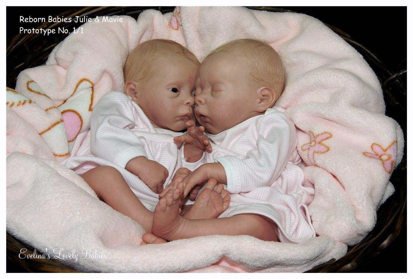Reborn Doll Kit Twins Mavie Julie by Evelina Wosnjuk