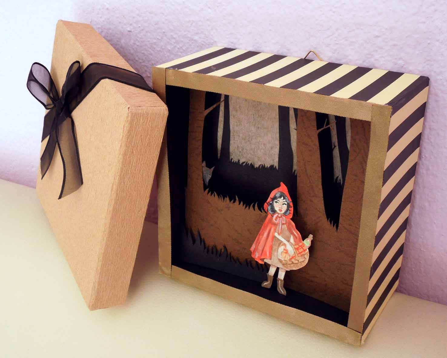 best images about little red riding hood red lighted shadow box 3d diorama of little red riding hood euro29 00 via