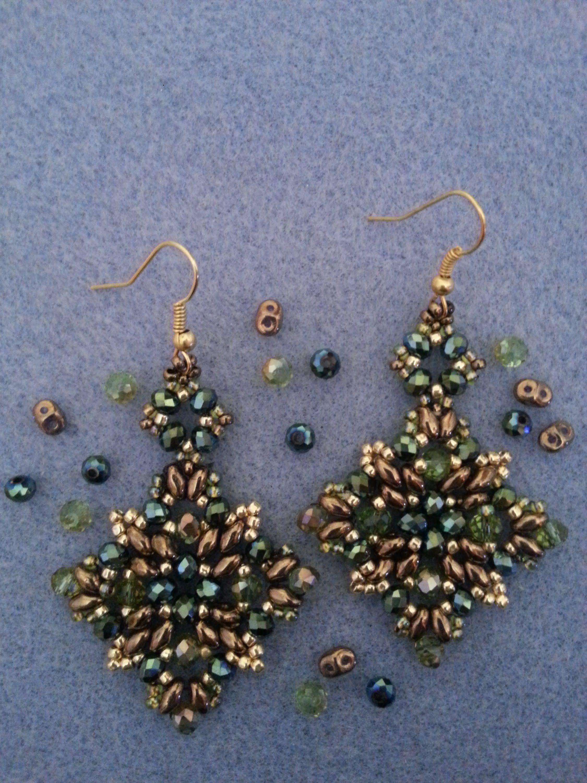 95b8b6d650ce DIY Tutorial  Orecchini perline superduo - DIY Tutorial  Earring beads s.