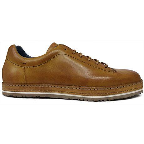 8519 Zapato deportivo en piel color cuero difuminada de Zampiere   Calzados  Garrido · Shoe SaleShoes SneakersLeatherFootwearFur