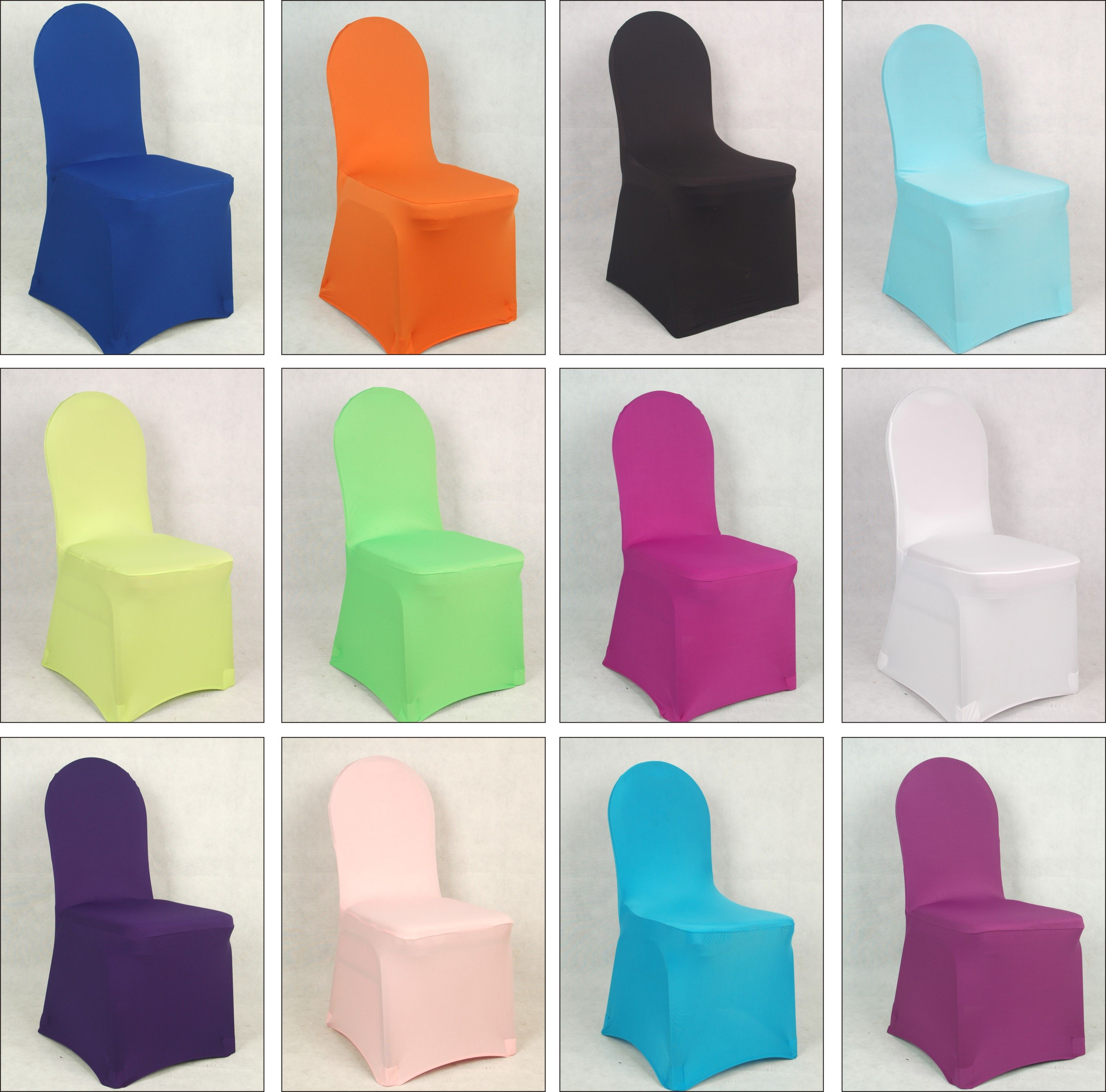 100 pcs spanex lycra Elastic wedding chair cover for hotel banquet