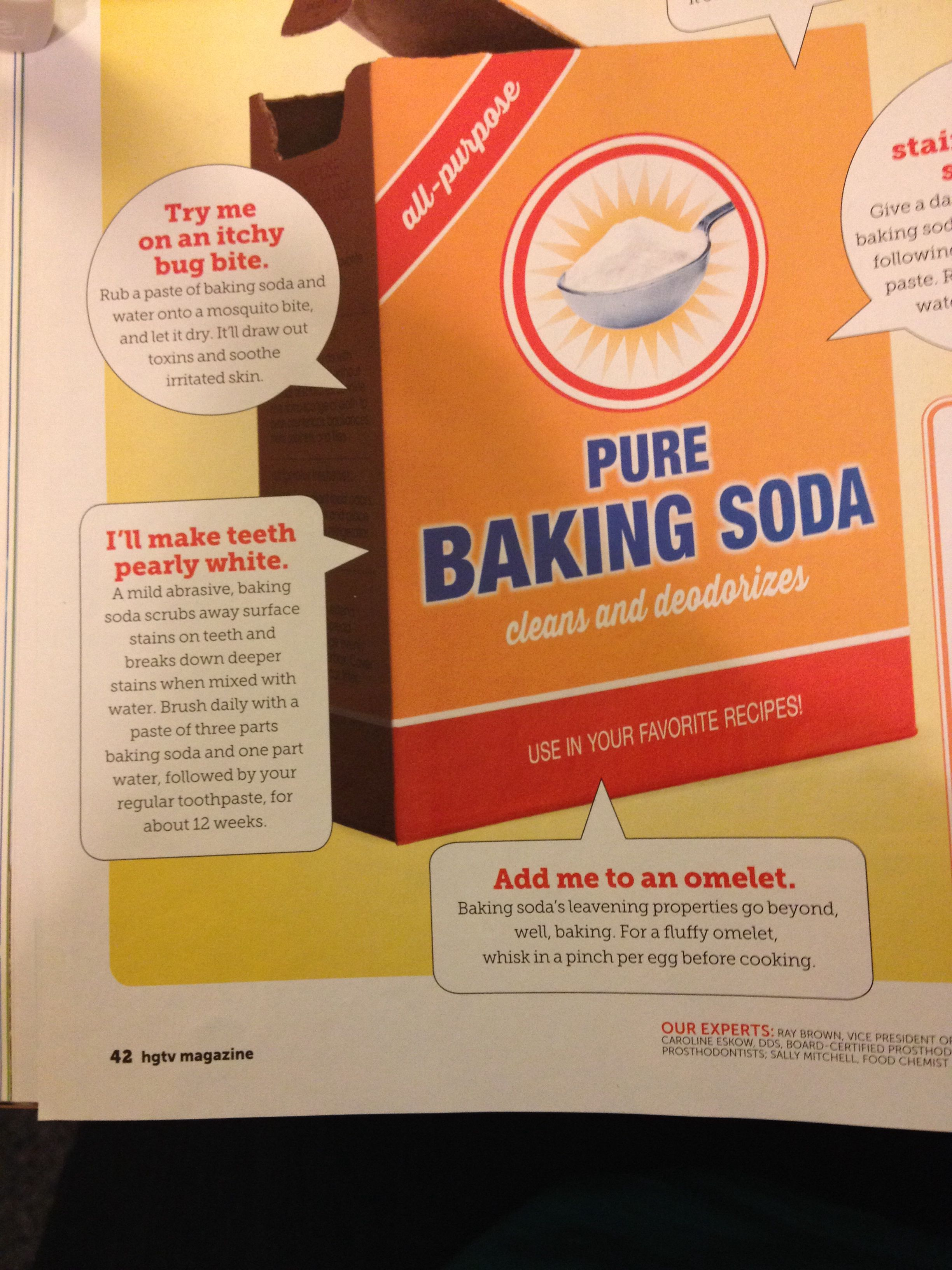 baking soda paste to whiten teeth stop bug bites from itching and