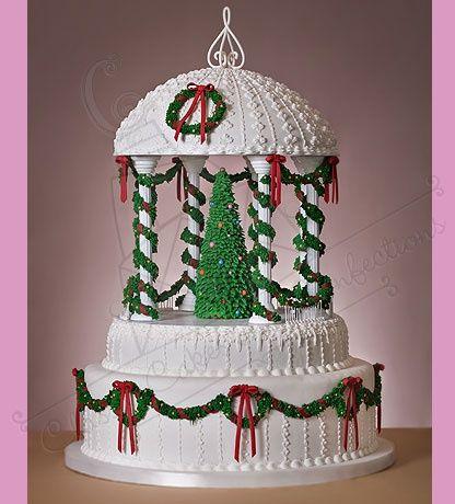 Christmas Gazebo Cake   Cake Decorating   Dulce Navidad ...