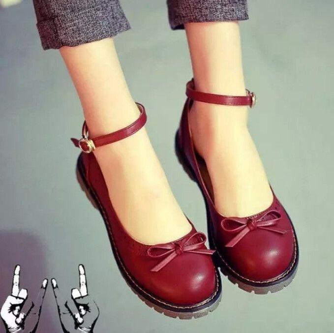 Retro zapatos cute bow Leather Zapatos zapatos Retro Pinterest Zapatos Botas c4fd5e