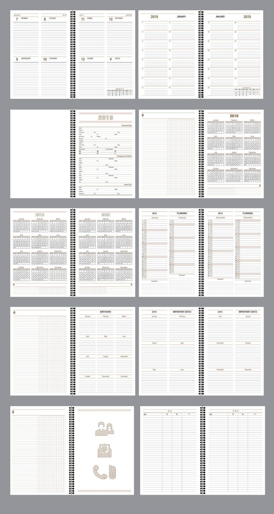 Daily Planner Agenda Indesign Template Fully Editable Model Atd04 With Paragraph Styles And Layers Wi Daily Agenda Planner Daily Planner Indesign Templates