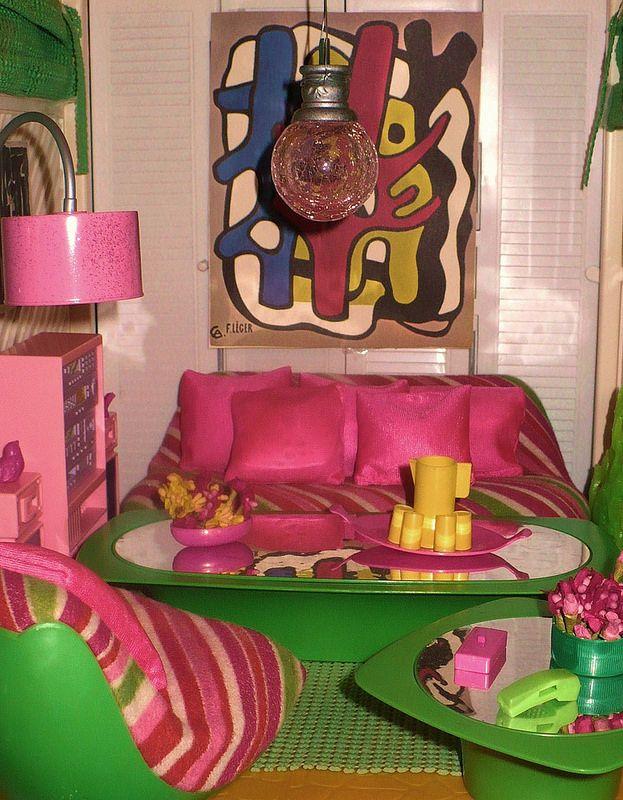 Bodo Hennig Möbel Wohnzimmer gross 70er J Barbie Skipper \ Co - barbie wohnzimmer möbel