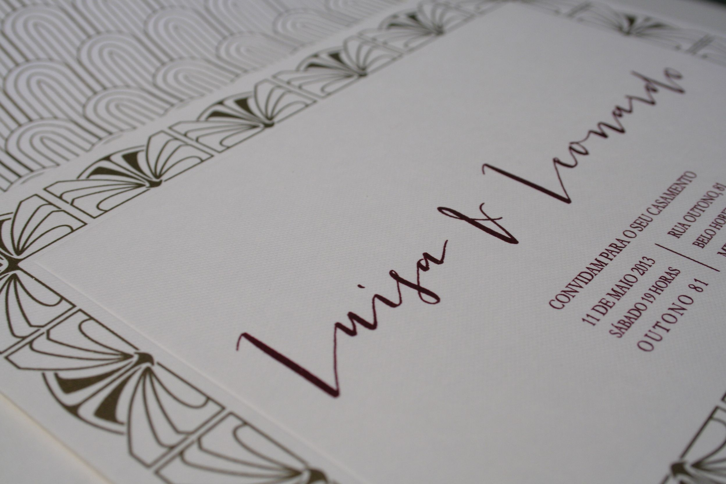 Convite Luisa e Leonardo por Boda Design