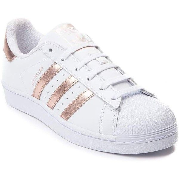new styles 5ab30 e5e09 Womens adidas Superstar Athletic Shoe (2,015 MXN) ❤ liked on Polyvore  featuring shoes, sneakers, adidas, flexible shoes, laced up shoes, metallic  shoes, ...