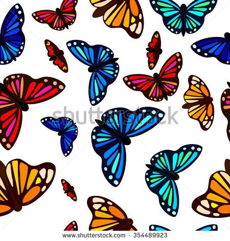 beautiful butterflies saturated color pattern