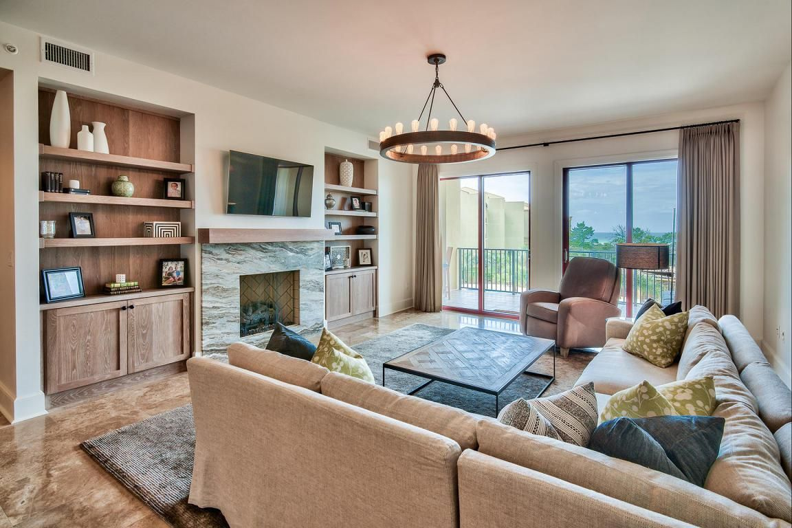 A Cozy Living Room From County Highway 30A, Santa Rosa Beach.