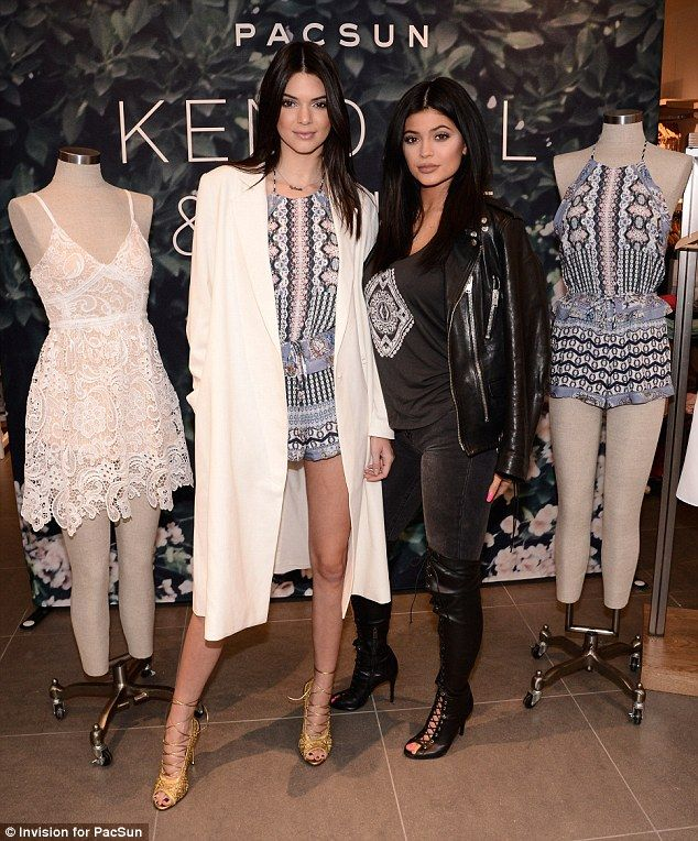 ba9dadbf43388 Massive reception: Kendall and Kylie Jenner had a meet and greet with fans  while promoting.