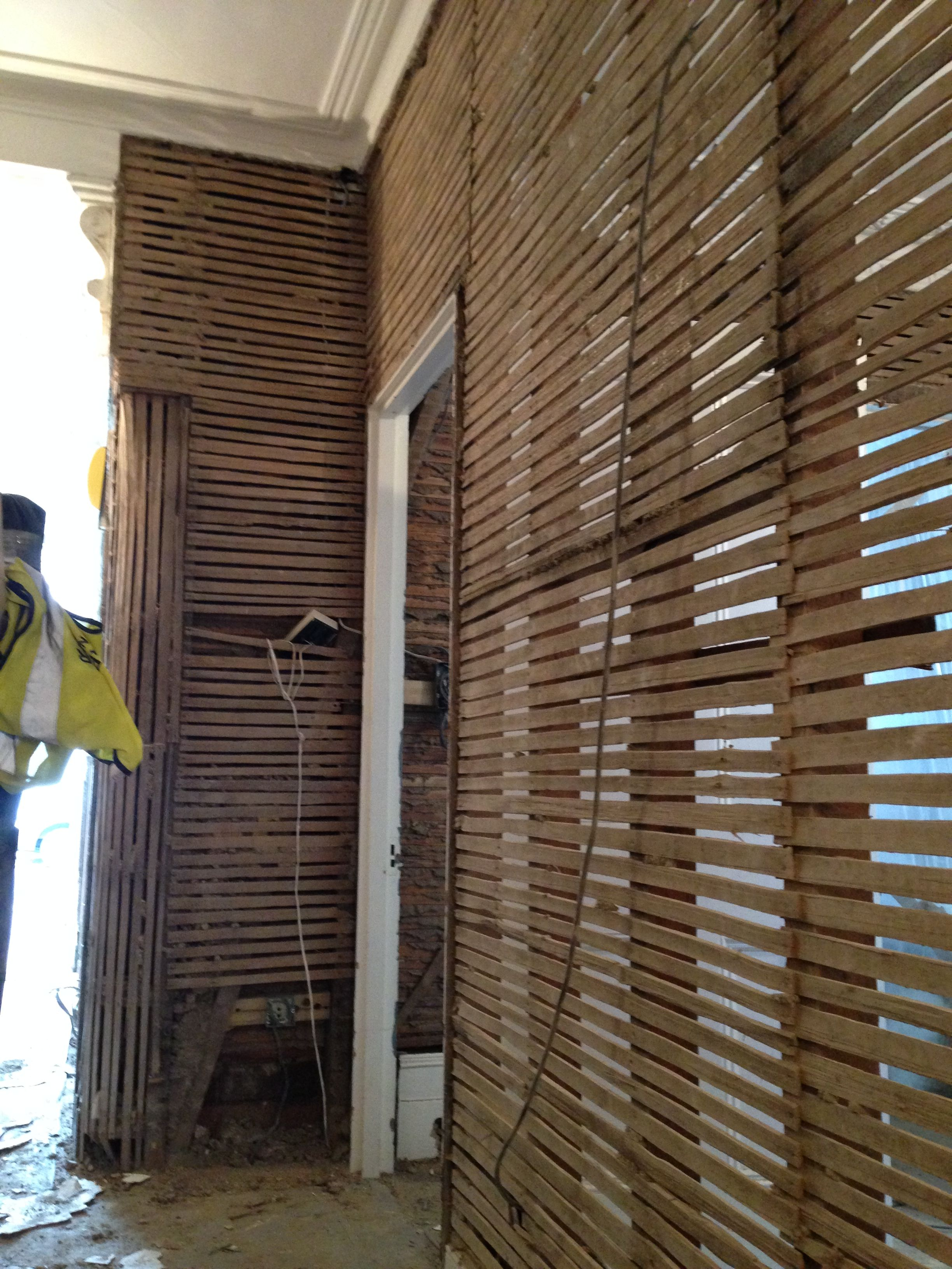 Popular Plaster Ceiling Repair Lath La Plaster R Value Plaster Uncovered Woodrow Architects Construction Sites Lath Plaster Uncovered La houzz-03 Lathe And Plaster