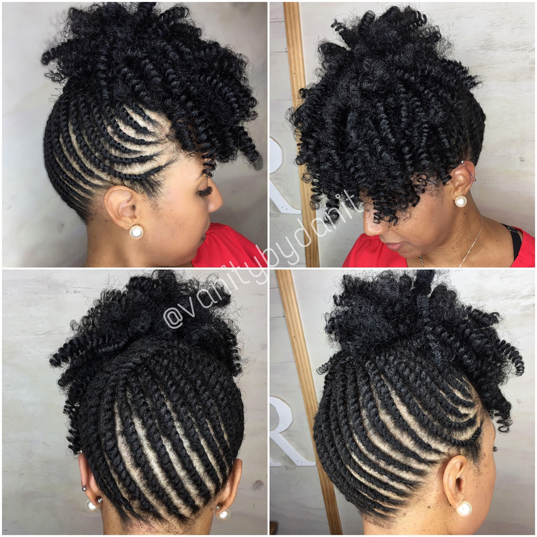Luxus Geflochtene Naturliche Frisuren Neu Frisuren 2018 Hair Twist Styles Braided Updo Black Hair Natural Hair Mohawk