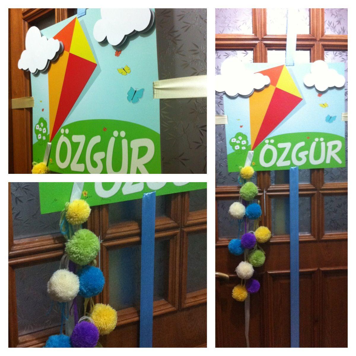 Baby Hospital Door Decoration, Baby Door Hanger | Baby ...