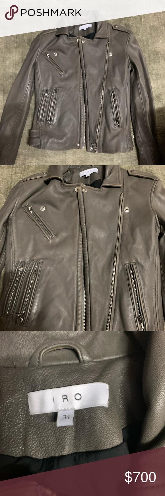 Brand New Iro Han Lambskin Leather Moto Jacket Distressed Leather Jacket Lambskin Leather Leather Moto [ 1740 x 580 Pixel ]