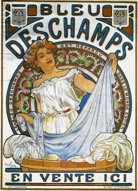ALPHONSE MUCHA Metal Sign VINTAGE F CHAMPENOIS Poster Print Nouveau DAY DREAM