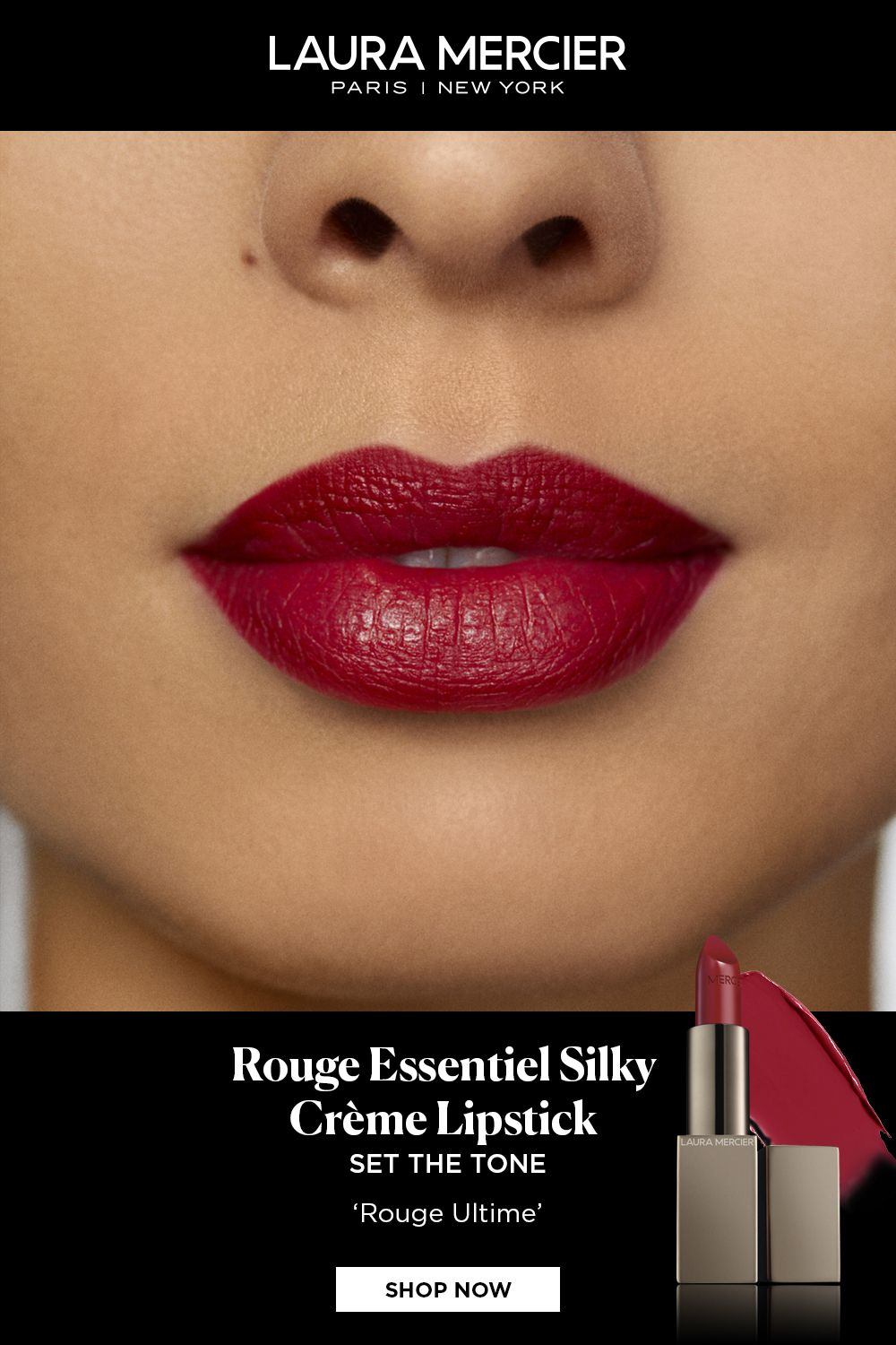 Rouge Essentiel Lipstick Laura Mercier Perfect Red Lipstick Creme Lipstick Lip Colors