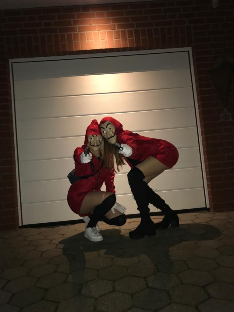 Carneval Haus Des Geldes Cheerleader Bilder Kostum Damen Ideen Halloween Schminkideen