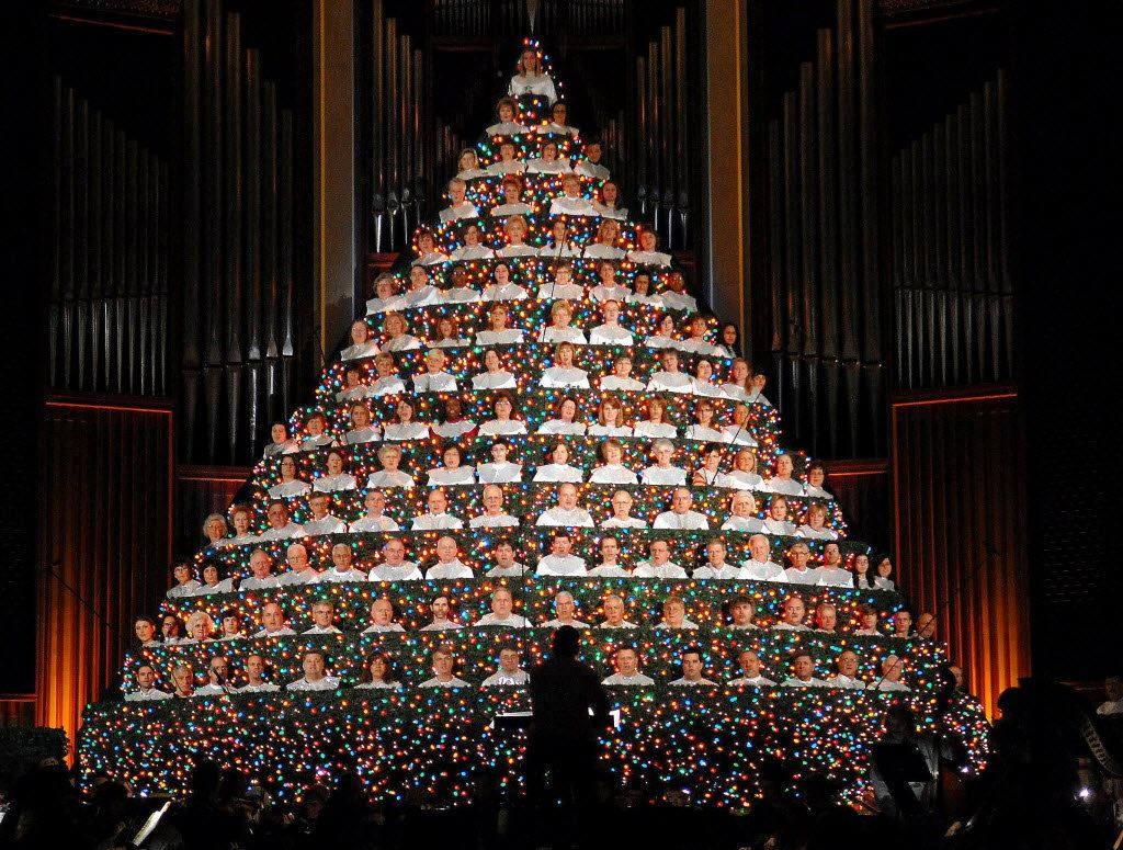 Living Christmas Tree at First Baptist Church | for the church ...