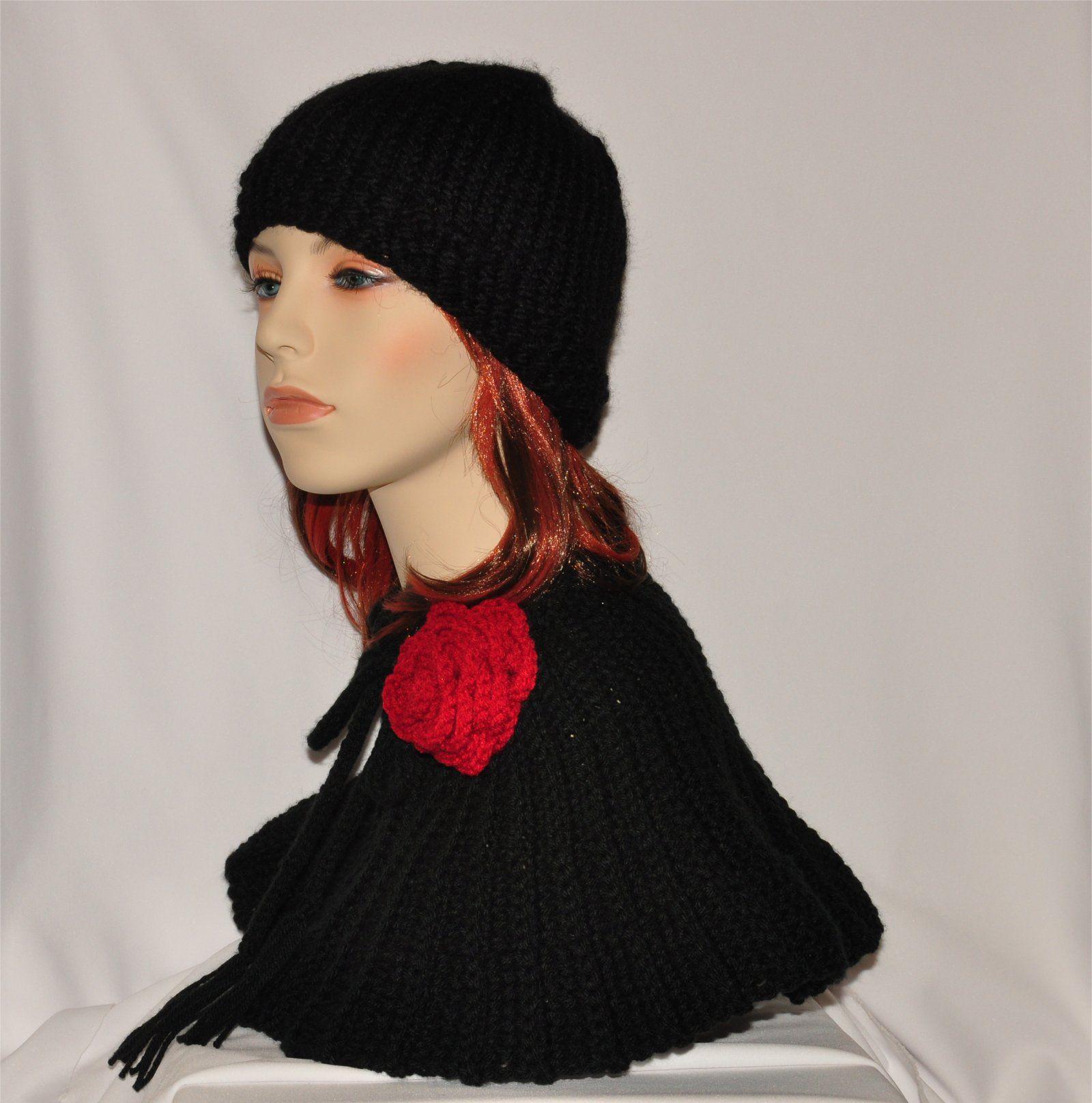 Crochet neck warmer and hat set