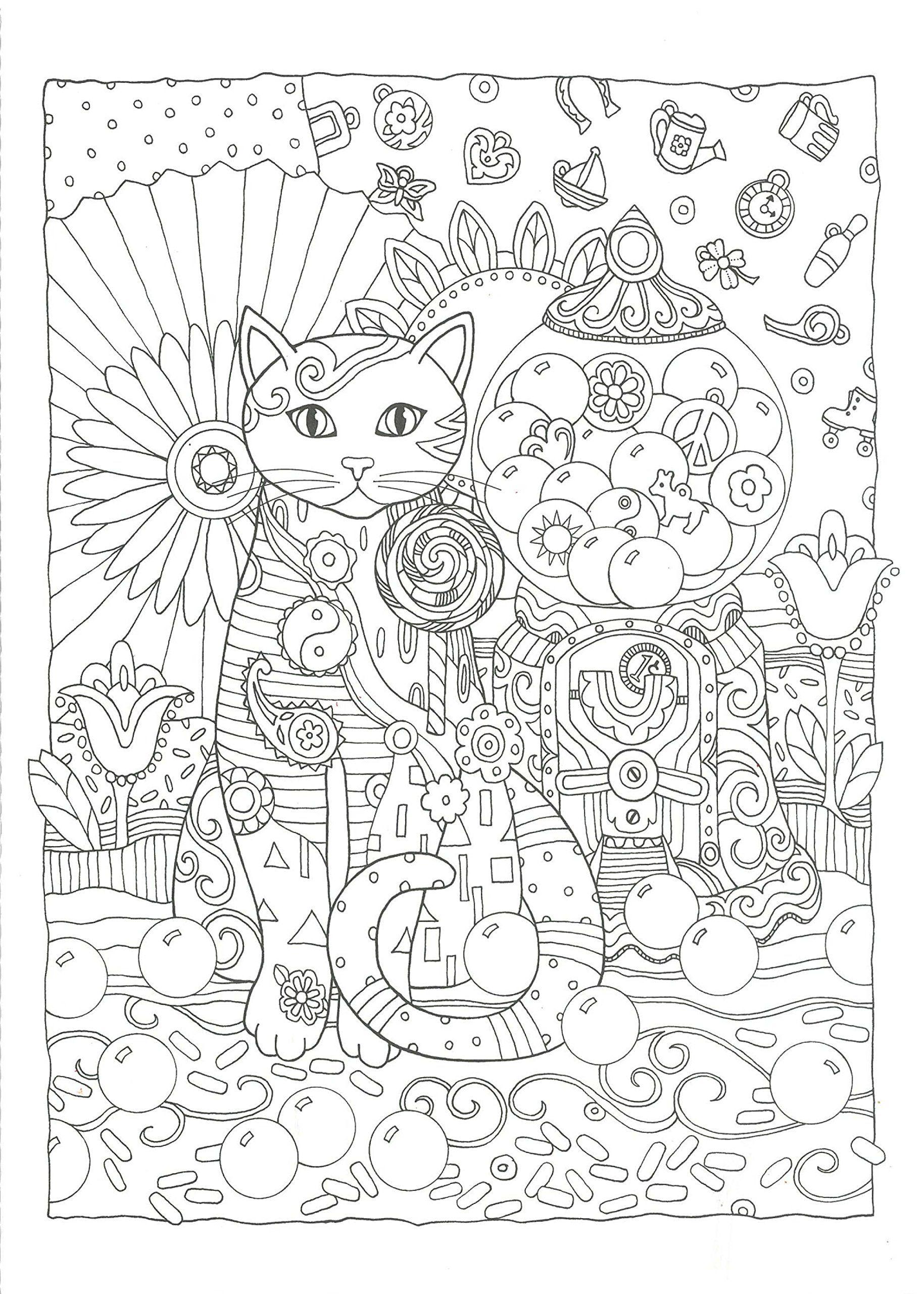 Ausmalbilder Mandala Für Erwachsene Katzen : Pin Von Mama Mia Auf Cute Coloring Book Pinterest