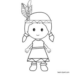 Black And White Native American Girl Clip Art Pilgrim Crafts Clip Art Native American Crafts