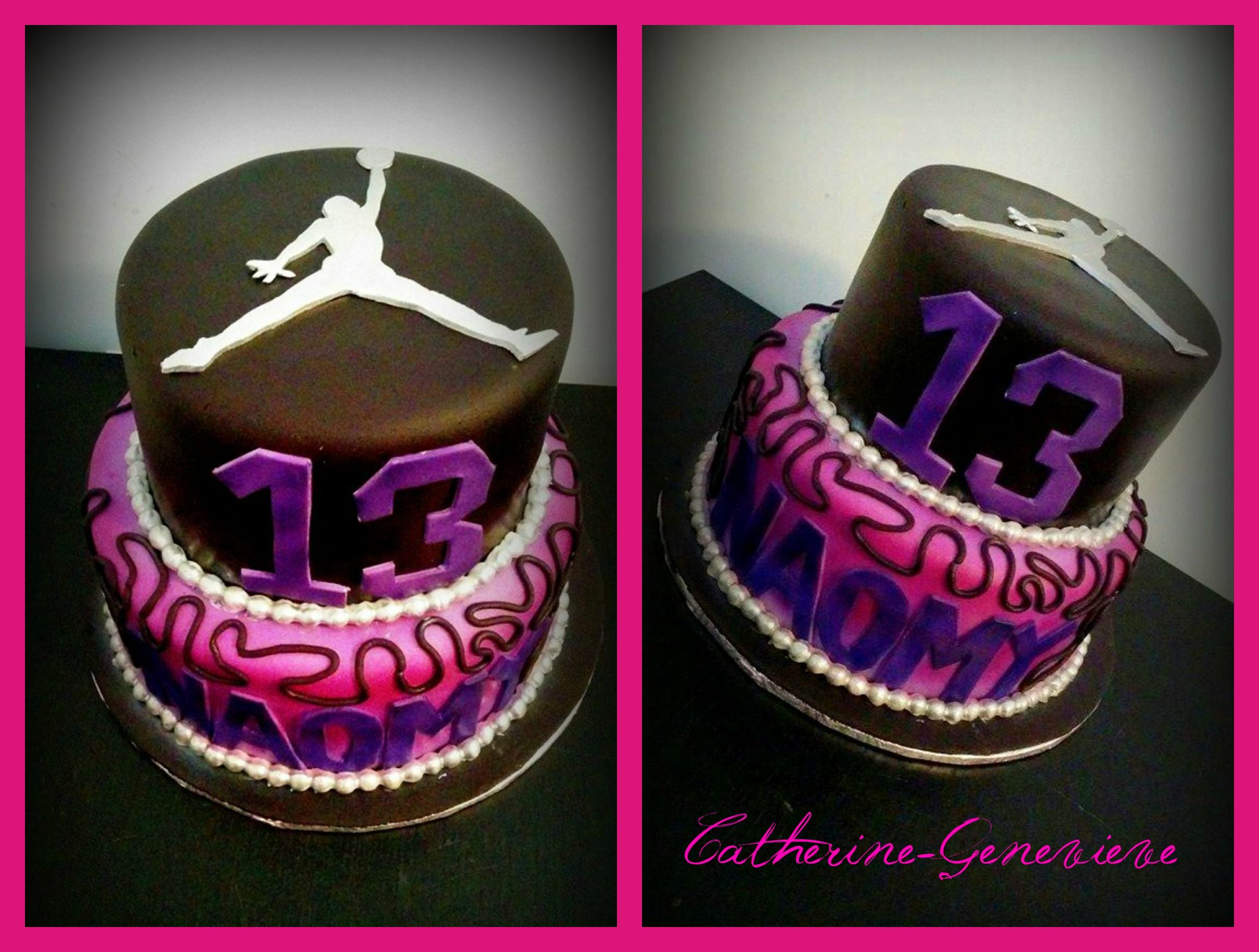 Basketball Jordan Cake for girl Cake and cupcake decorating