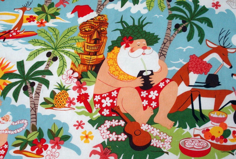 Hawaiian Christmas Tree Skirt