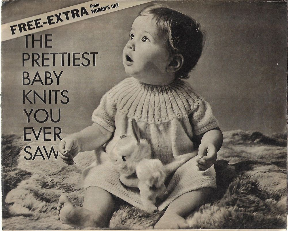 Prettiest Baby Knits Ever vintage knitting pattern supplement ...
