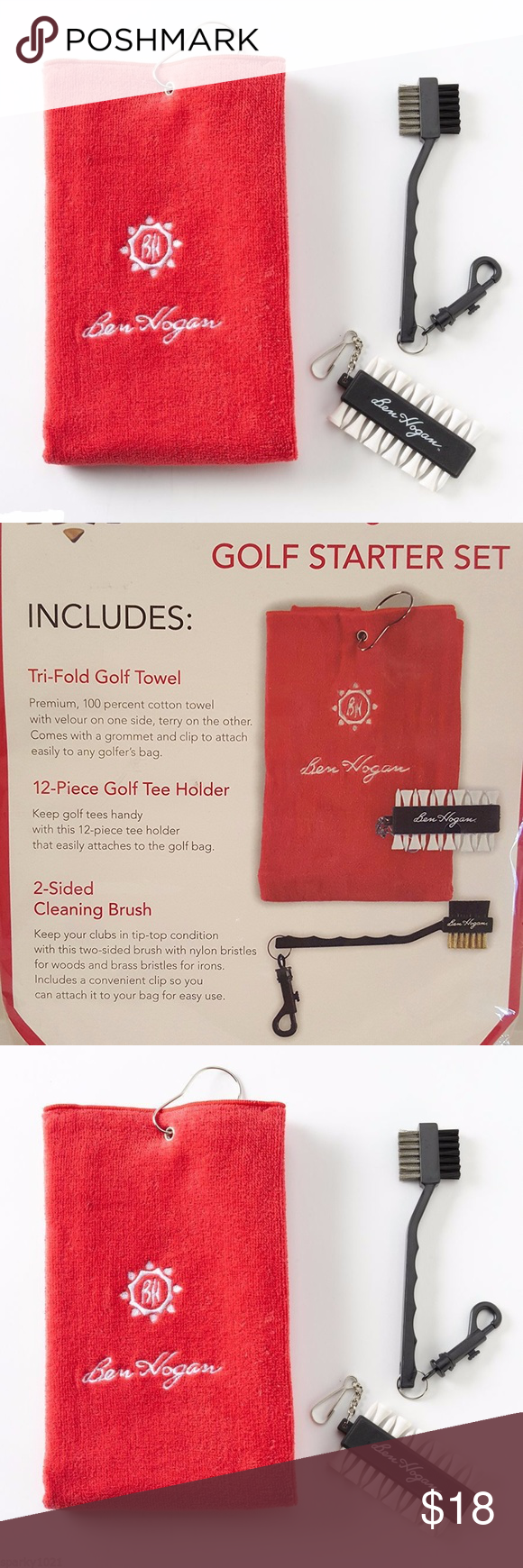 Ben Hogan Accessories Golf Starter Set   Accessories, Velour towel ...