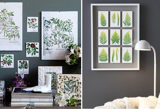Trend haal de natuur in huis botanische prints decorate in