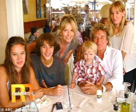 two hour delay on flight home for rod stewart and family as airport