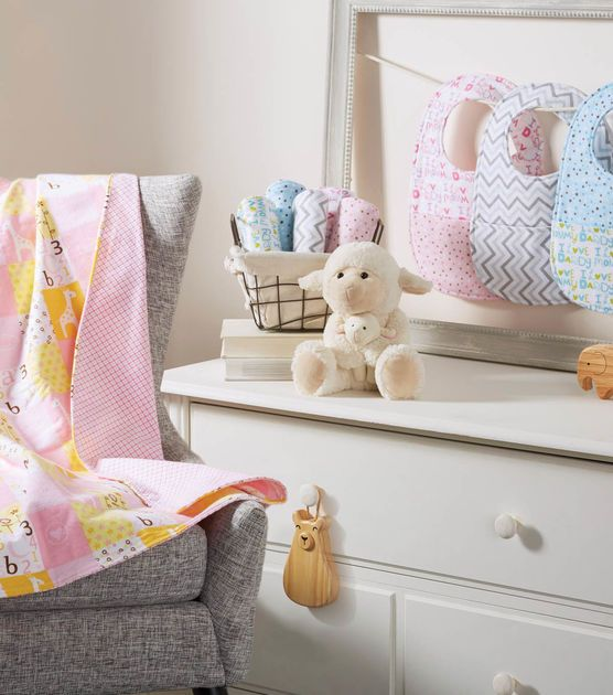 Baby Nursery Accessories sew this blanket,bib,& burp cloth for your ...